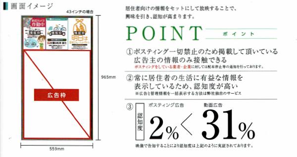 マンション広告のデジタルサイネージのサイズ